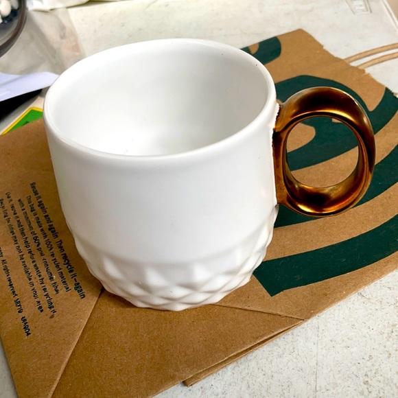 2013 Starbucks Diamond Quilt Mug Bronze Handle